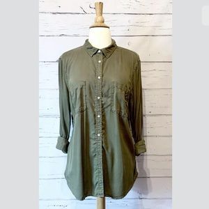 Merona Size XL Long Sleeve  Hunter Green Shirt